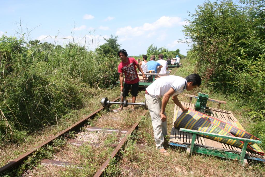 bamboo train, battambang, cambodia holiday