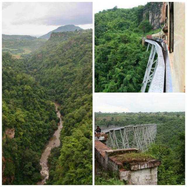 Going over the Gokteik Viaduct, Myanmar
