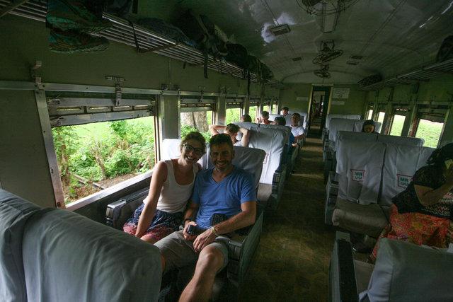 inside of myanmar train